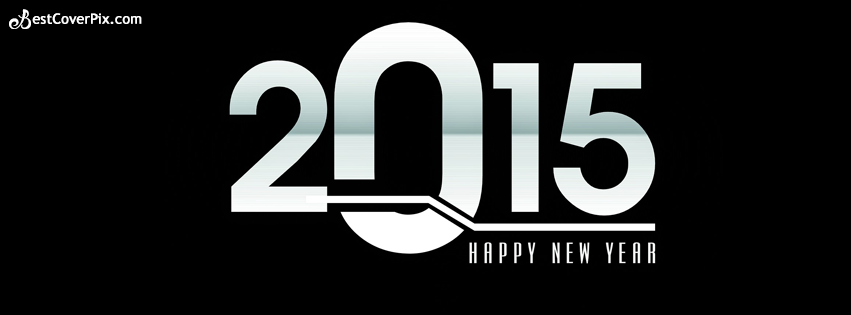 Facebook Covers for Happy New year 2015 in Black – Images