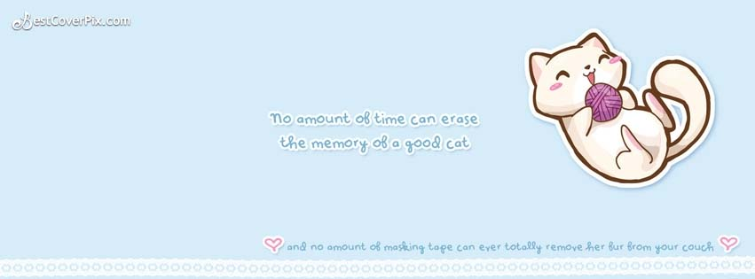 Cats Quotes Cute Facebook Cover Banner