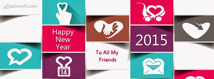 Best Happy New Year 2015 FB Cover and Cards for Friends