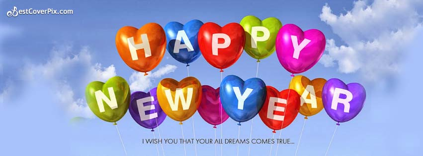 A Happy New Year Facebook Cover Banner