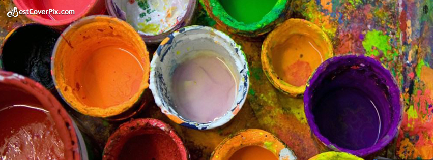 Colorfull Cool Paint Facebook Cover Banner