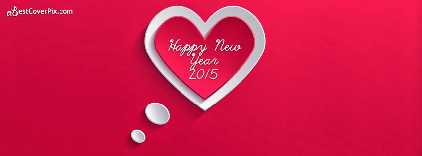 heart saying happy new year 2015 facebook timeline covers