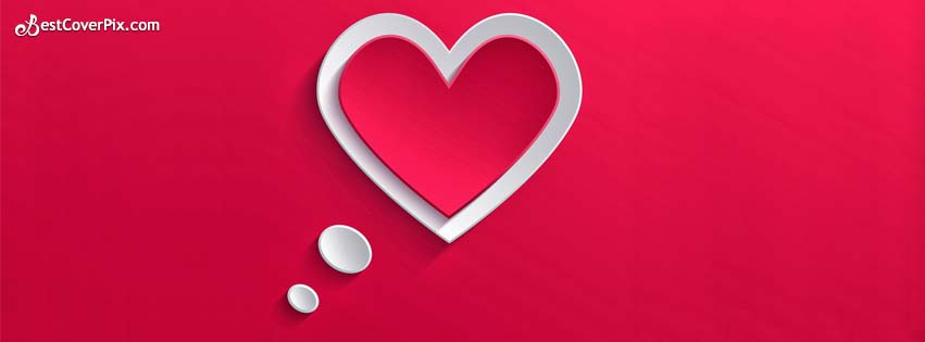 In Love Stylish and Super Cool Heart Shape Facebook Cover Photo/ Banner