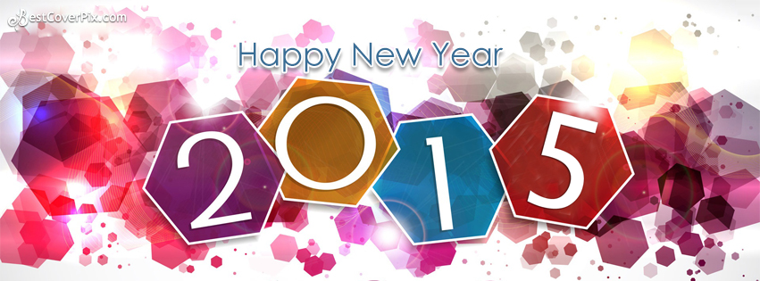 2015 Happy New Year FB Profile Cover Photo