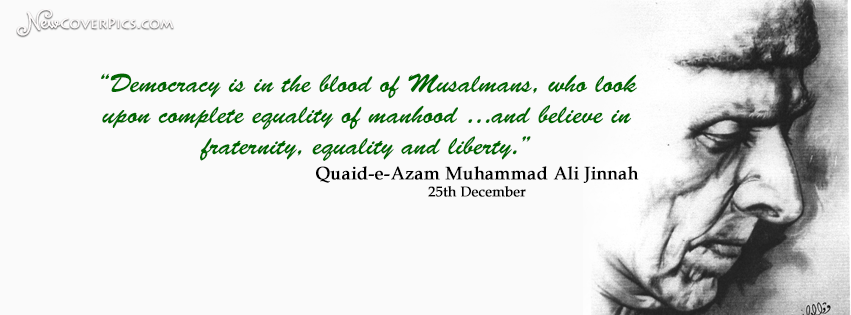 Quaid-e-Aazam Muhammad Ali Jinnah ( 25th December ) FB Cover Photo