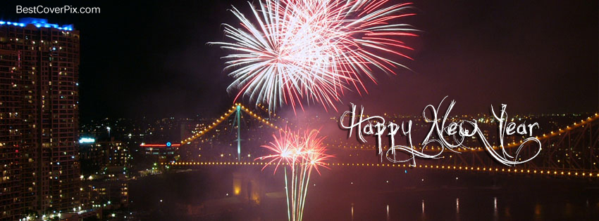 happy new year 2015 Fireworks fb cover