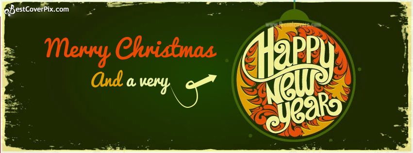 happy christmas and a happy new year stylish cover banner