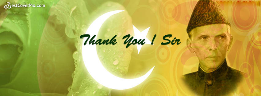 Thank You Jinnah For Giving Pakistan ( 25th Dec ) FB Cover Photo