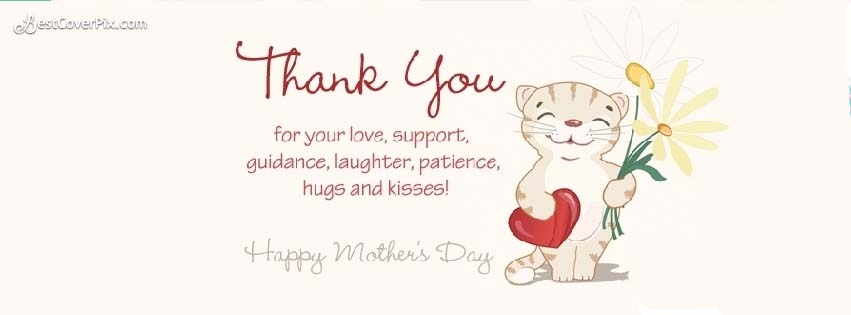 Happy Mother's Day Thank You Facebook Cover Photos