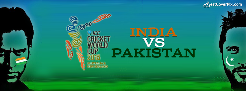 ICC Cricket World Cup India V/S Pakistan Sports Facebook Cover Photo