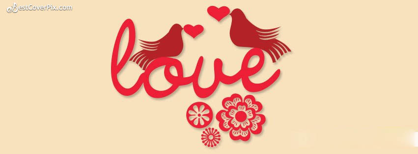Love Birds | Happy Valentines Day FB Cover Photo