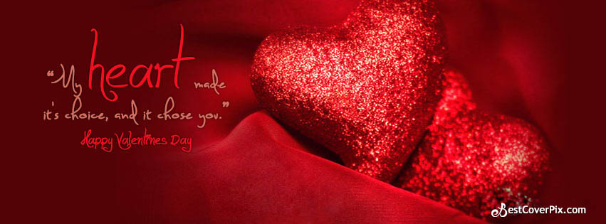 valentines day heart fb cover photo