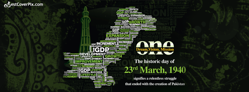23rd March 1940 – Creation of Pakistan FB Cover Photo