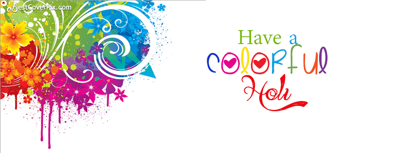 colorful holi fb covers