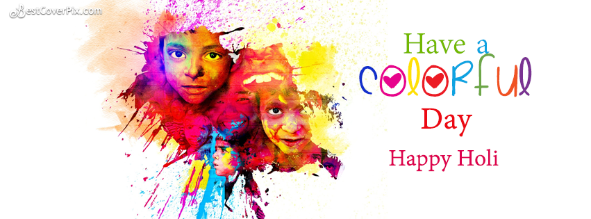 Happy Holi FB Cover Photo