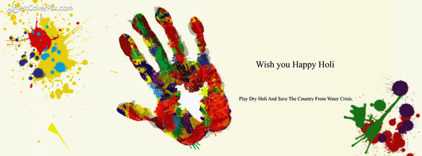 happy holi fb banner