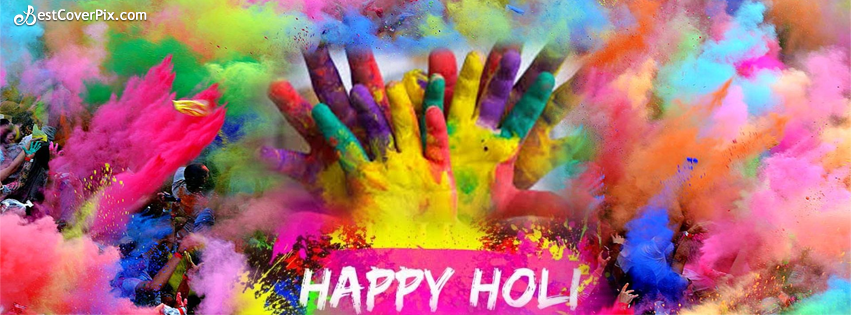 Happy Holi Colorful Facebook Timeline Banner Photo