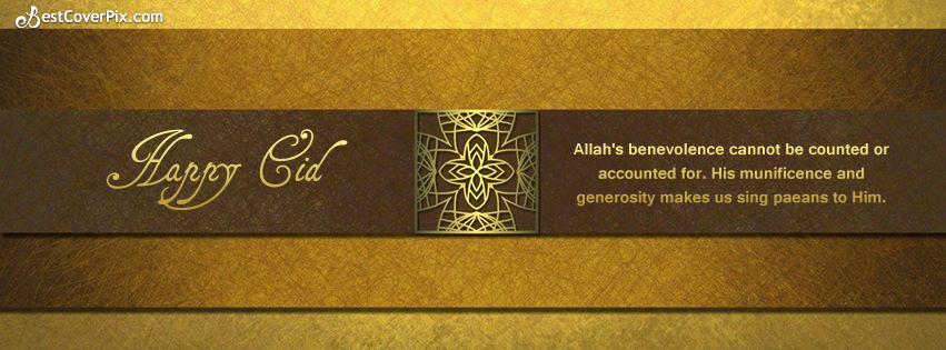 Happy Eid Quote Facebook Timeline Classic Banner