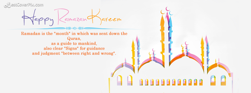 Happy Ramazan Kareem Cool Facebook Cover Banner