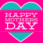 mother's day heart shaped cards