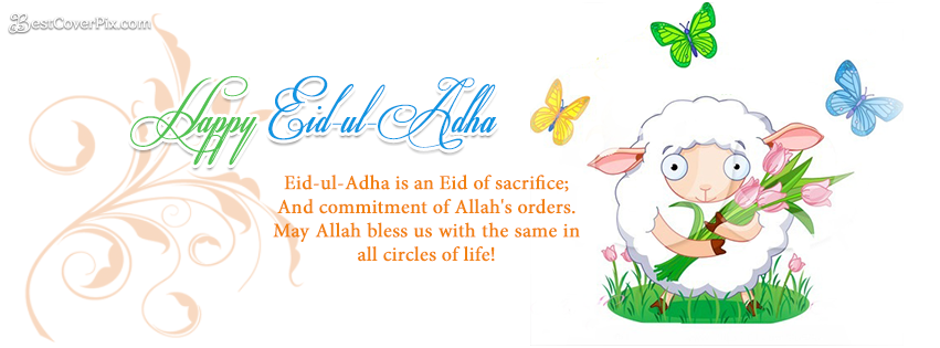 happy eid ul adha fb quotes banner photo