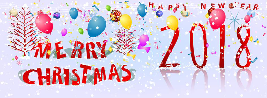 Merry Xmas and New Year 218 FB timeline cover photo