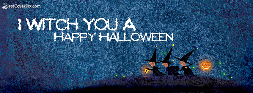I Wish You A Happy Halloween FB Banner Photo