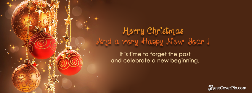 Merry christmas and happy New year 2016 Facebook Covers
