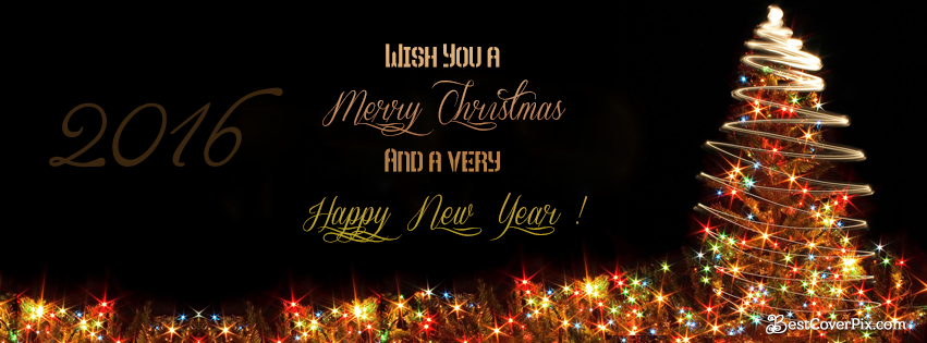 happy new year and merry christmas 2016 facebook cover photo