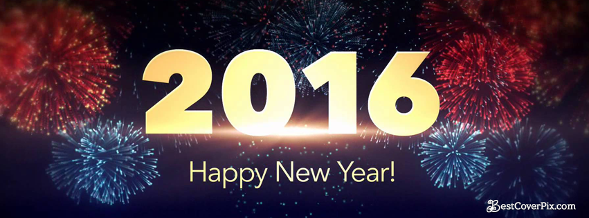 Happy New year 2016 Facebook cover photos