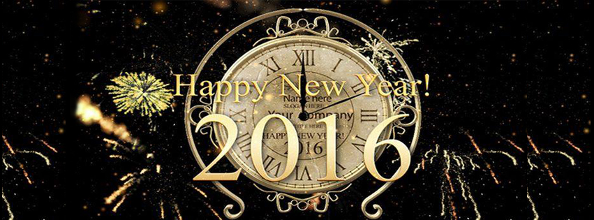 2016 Facebook Covers Happy New Year