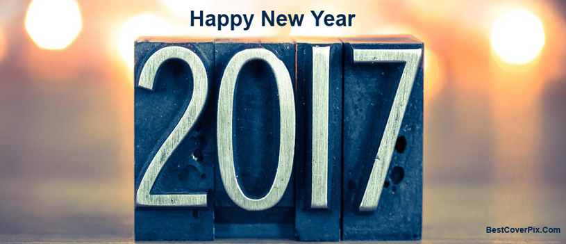 2017 Happy New Year Facebook Cover
