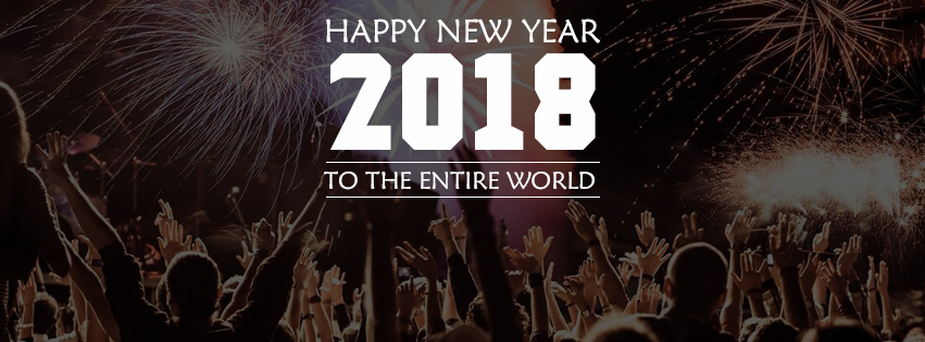 Happy new year 2018 cover photo