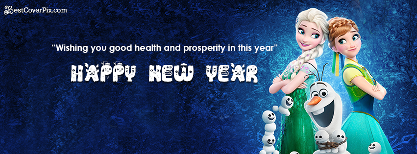 Frozen 2019 Happy New Year Wishes Cover Photo