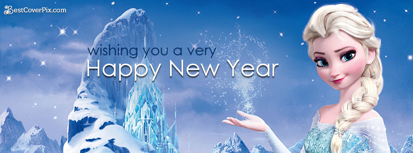 Frozen 2019 Happy New Year Cover Photos for Girls