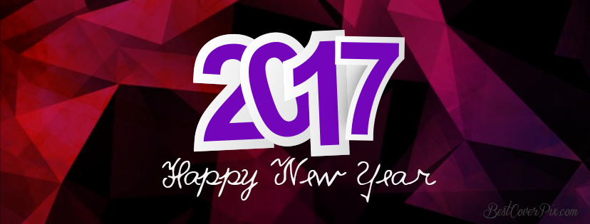 happy new year Facebook covers 2017