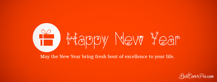 Happy New Year Wishes 2019 FB Cover Banner Red BG