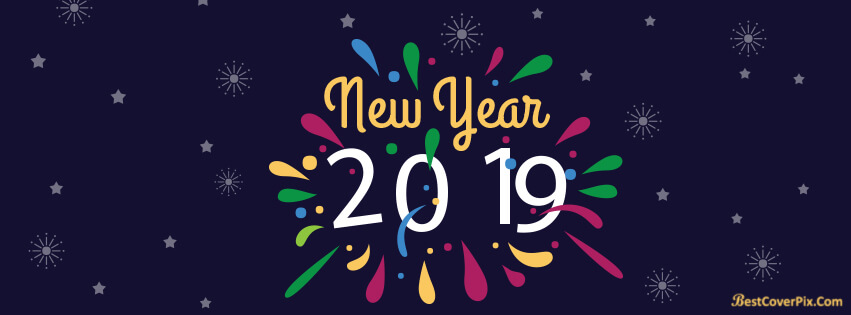 2019 Happy New Year Cover Banners For Facebook