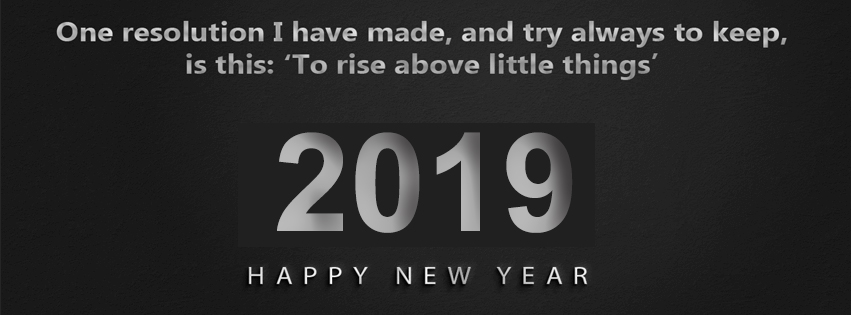 Creative Happy New Year 2019 Dark Facebook Covers