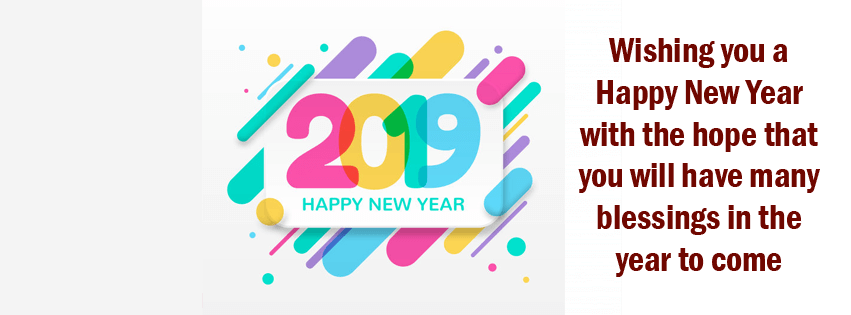 Happy New Year 2019 FB Timeline Cover Photos & Wishes