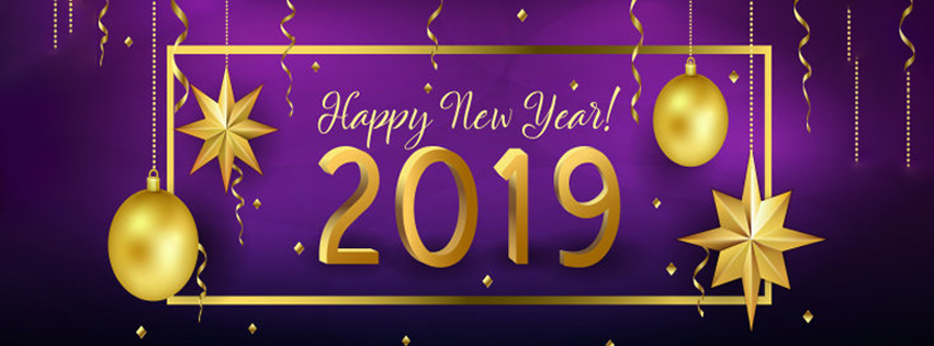 Happy New Year 2019 Cover Photos & FB Status Greetings