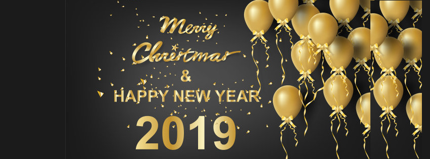 Merry Christmas & Happy New Year 2019 Wishes Quotes Covers