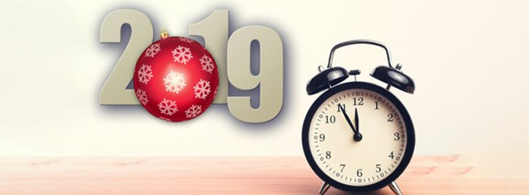 New Year 2019 Clock Facebook Cover pic