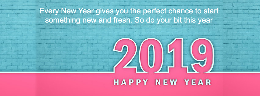 Happy New Year 2019 Celebration Facebook Cover Photos