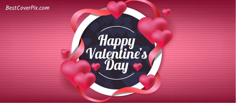 Happy Valentine's Day FB Cover Beautiful Heart